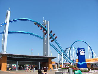 Cedar Point - Cedar Point's renovated entrance for 2013, featuring GateKeeper flying over head
