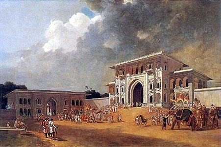 Gates of Palace at Lucknow William Daniell 1801