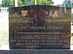Gay vietnam veteran tomb