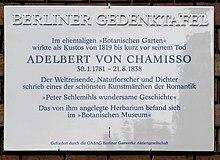 Gedenktafel am Haus am Kleistpark, Grunewaldstraße6–7, in Berlin-Schöneberg (Quelle: Wikimedia)