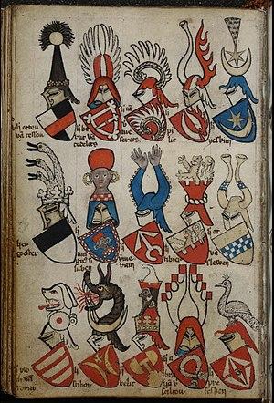 Leliwa coat of arms - Image: Gelre Folio 53v
