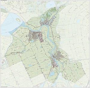 Zwartewaterland - Dutch Topographic map of Zwartewaterland, Sept. 2014