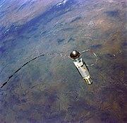 Gemini 12 tethered stationkeeping