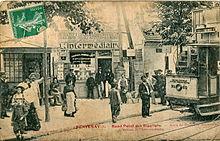 Ligne de la Bastille, ancëtre du RER de Saint-Mandé à Boissy-Saint-Léger 220px-Gendre_6_-_FONTENAY_-_Rond_Point_des_Rigollots_-_Arret_du_Tramway_Nogentais_-_Bureau_de_l'Interm%C3%A9diaire