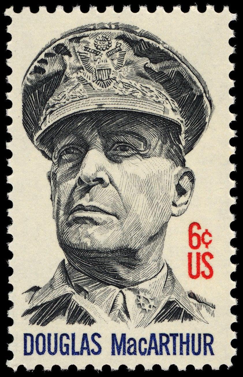 General Douglas MacArthur 6c 1971 issue U.S. stamp