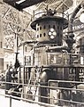 General Electric Company exhibit including a 3000 horsepower Steam Turbine and 200 kilowatt alternator in the Palace of Machinery at the 1904 World's Fair.jpg