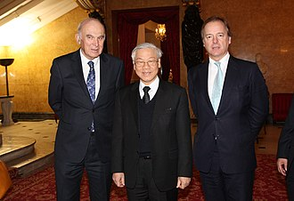 Vince Cable - Cable and Hugo Swire with Nguyễn Phú Trọng, General Secretary of the Communist Party of Vietnam, London, 2013