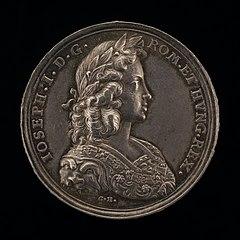Coronation Medal of Joseph I, 1678-1711, King of Hungary 1687, King of the Romans 1690, Holy Roman Emperor 1705 [obverse]