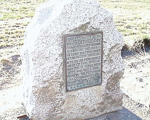 Hopewell, Oregon - Marker on Oregon Route 221 commemorating early Hopewell resident George Gay
