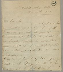 autograph letter signed to john hanson byrons lawyer and business agent fondazione beic