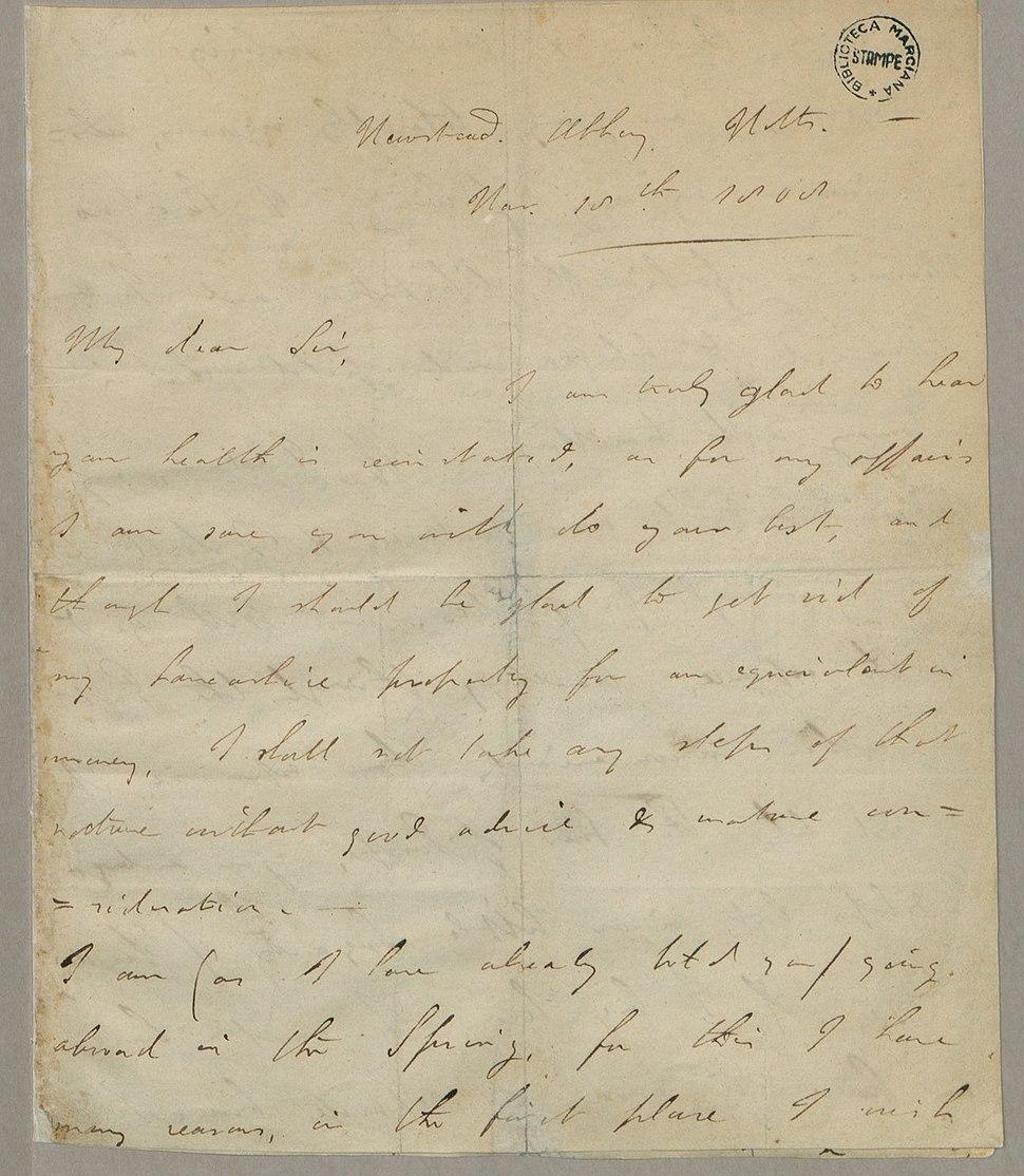 George Gordon Byron Autograph