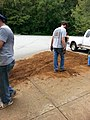 Georgia Native Plant Society planting butterfly garden in Heritage Park, Mableton, Cobb County, Sept 2015 20.jpg