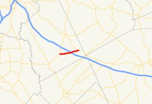 Georgia State Route 358 - Image: Georgia state route 358 map