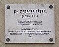 Gerecze Péter emléktábla (2006), Adria utca, 2018 Pestújhely.jpg