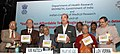 Ghulam Nabi Azad launching the indigenously developed technologies from National Institute of Nutrition, Hyderabad, at a function, in New Delhi. The DG, ICMR and Secretary, Department of Health Research, Dr. V.M. Katoch.jpg