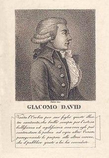 Giacomo David Italian opera singer