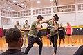 Gil and Keri Melendez teach soldiers martial arts techniques.jpg