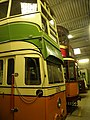 Glasgow trams 1282 & 1115, Crich tramway museum, 29 September 2012.jpg