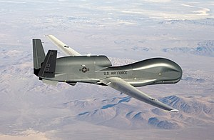Northrop Grumman RQ-4 Global Hawk - An RQ-4 Global Hawk flying in 2007