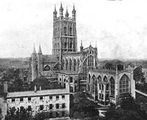Melville Cook - Gloucester Cathedral in 1920, a city where Melville Cook was born, sang as a chorister and was assistant organist.