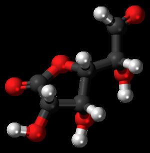 Glucuronolactone - Image: Glucuronolactone (aldehyde) 3D balls