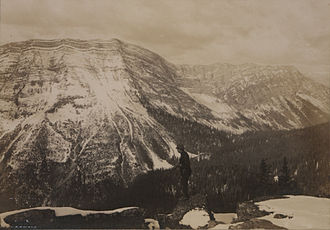 Crowsnest Pass - Goat Mountain from the summit of Crown Mountain, Crowsnest Pass, 1908.