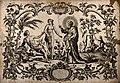God creates Eve; she tempts Adam. Engraving by Scotin, c. 17 Wellcome V0034421.jpg