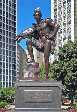 Hermann Hahn - Goethe Monument in Chicago