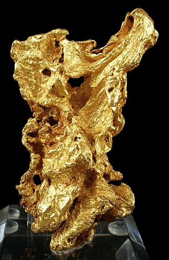 Australian gold rushes - Large gold specimen from the Ballarat mines, weight over 150 grams, size 7.4×4.4×2.3 cm.