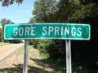 Gore Springs, Mississippi Unincorporated community in Mississippi, United States