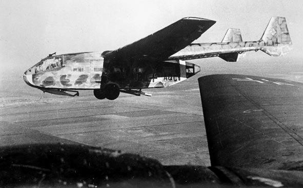 Gotha Go 242 glider in flight