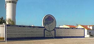 Mural conmemorativo en Grândola.