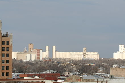 Enid holds the title of having the most grain storage capacity in the United States. Grain Storage.JPG