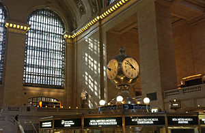 Seth Thomas (clockmaker) - The Seth Thomas Clock Company-manufactured clock at Grand Central Terminal.