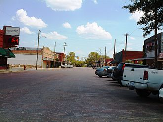 Grandview, Texas - Business district street scene in Grandview, Texas