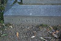 Grave of Hiacynta Truskolaska at Central Cemetery in Sanok (Matejki part) 3 made by Ferdynand Majerski.jpg