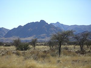 Great Karas Mountains - The Great Karas Mountains viewed from the B1 national road