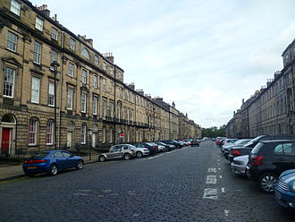 New Town, Edinburgh - Great King Street. Part of the northern extension to the original New Town