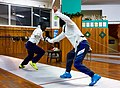Greek Epee Fencers. Agapitos Papadimitriou (left) and Ilias Konstantinidis (right) at Athenaikos Fencing Club.jpg