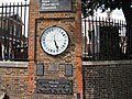 Greenwich Observatory- Clock and Display of Imperial Measures - geograph.org.uk - 936176.jpg