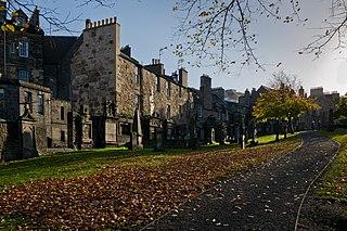 Greyfriars Kirkyard graveyard surrounding Greyfriars Kirk in Edinburgh, Scotland