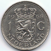 1968 One Guilder Coin