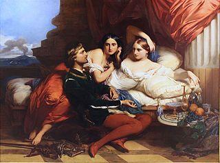 Boccace lisant le Décaméron à la reine Jeanne de Naples