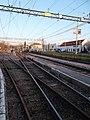 HÉV station, railway points, 2019 Cinkota.jpg