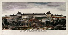 Hôpital Royal de Bicêtre, Paris; panoramic view with gardens Wellcome V0014292.jpg