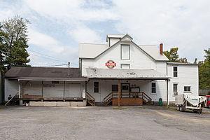 Mapleton, Pennsylvania - H.O. Andrews Feed Mill on Main Street