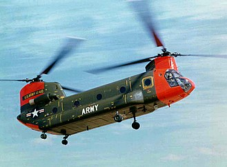 Boeing CH-47 Chinook - HC-1B during in-flight evaluation