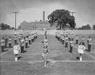 David H. Hickman High School - The Hickman marching band c. 1948.