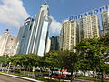HK Bus 101 Tour view Wan Chai Hung Hing Road view Top Glory Tower Sino Plaza n Elizabeth House facades Apr-2013.JPG