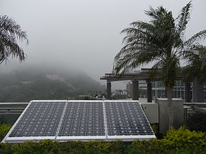 Energy in Hong Kong - Photovoltaic panels at The Peak Galleria